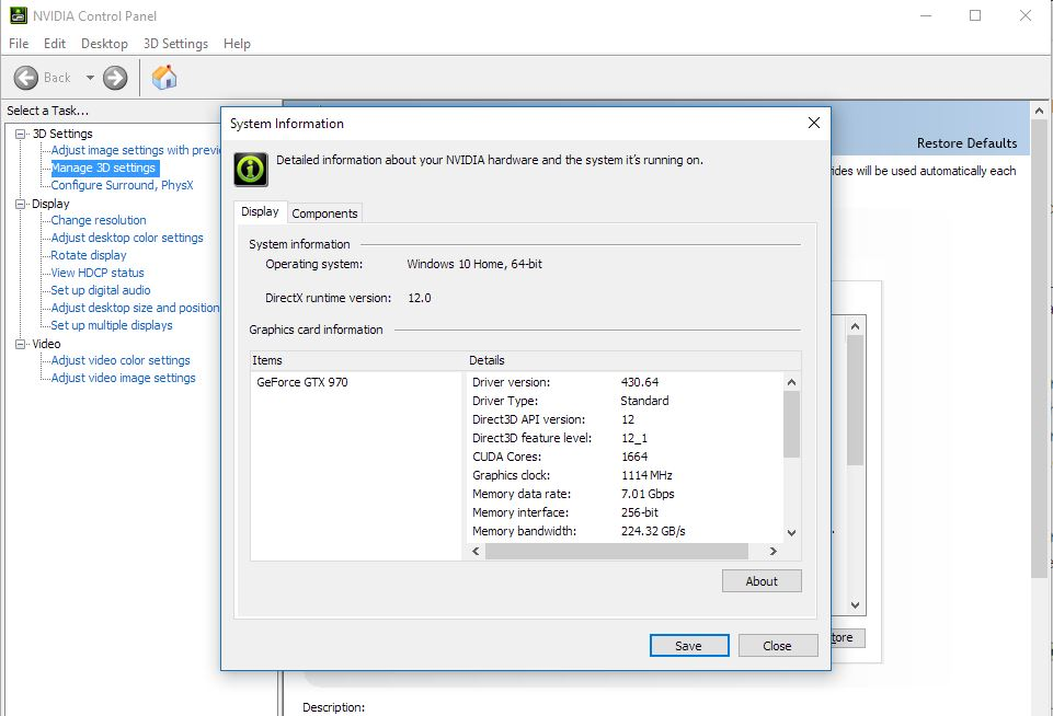 Nvidia control panel application 8.1.1000
