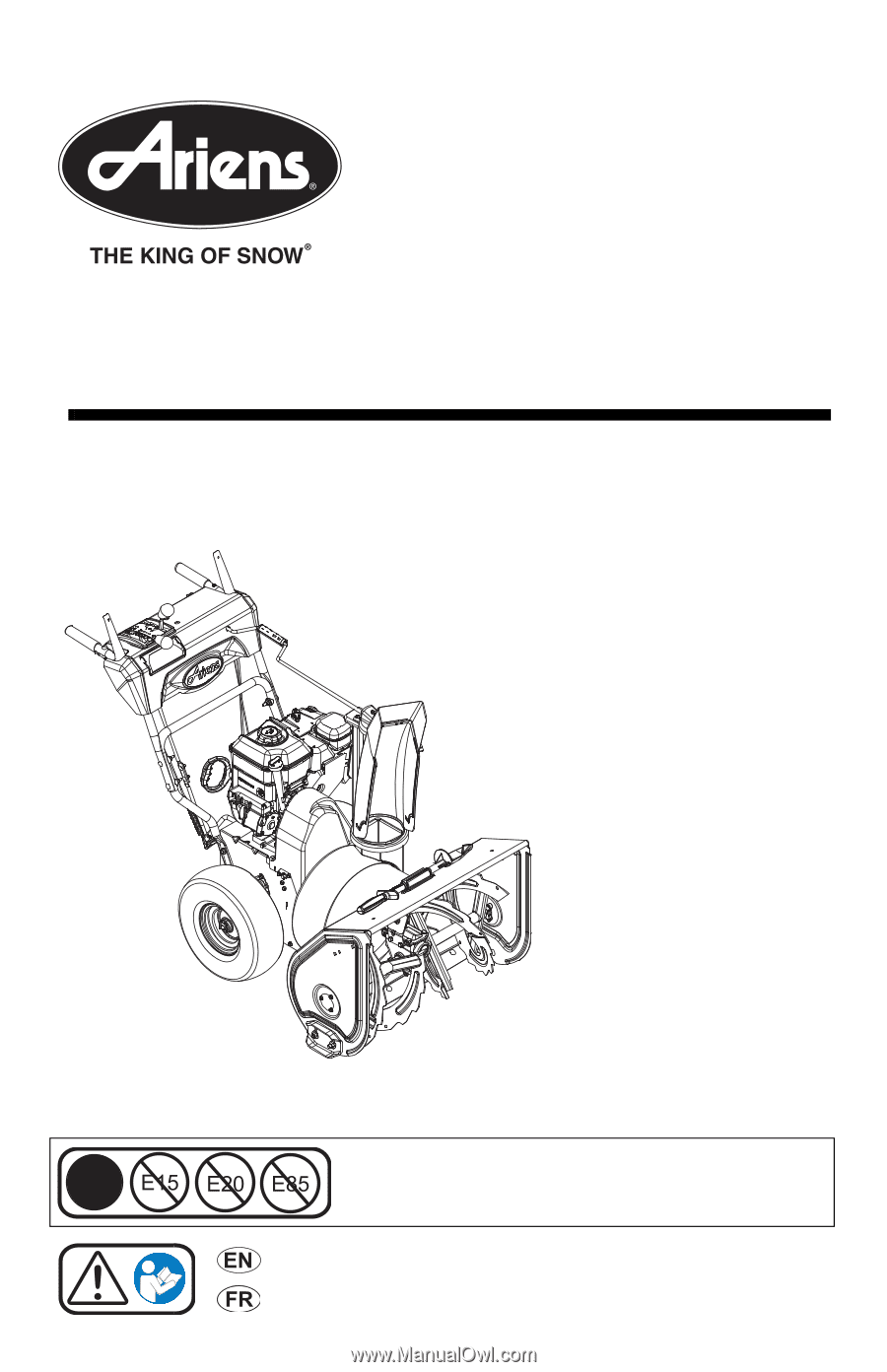 ariens platinum 30 parts manual 921040