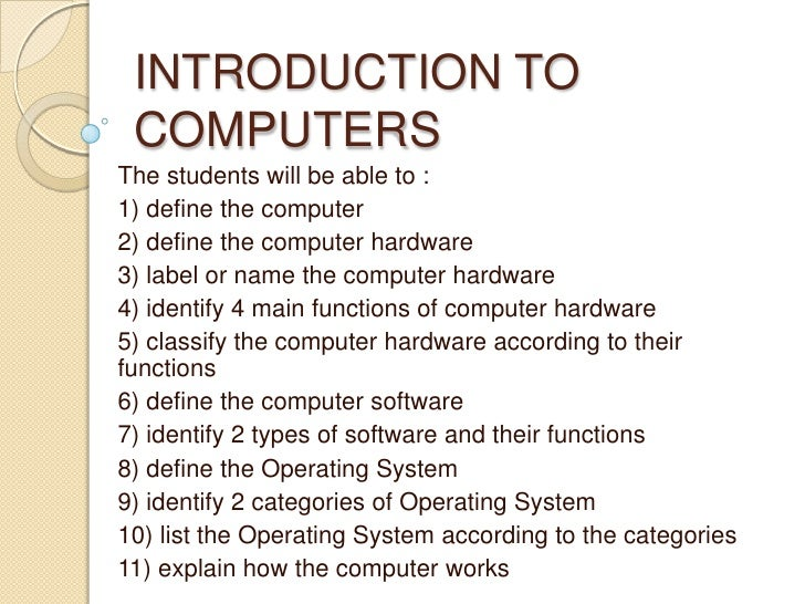 Introduction to computer studies pdf