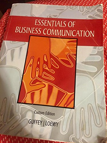 Essentials of business communication guffey pdf