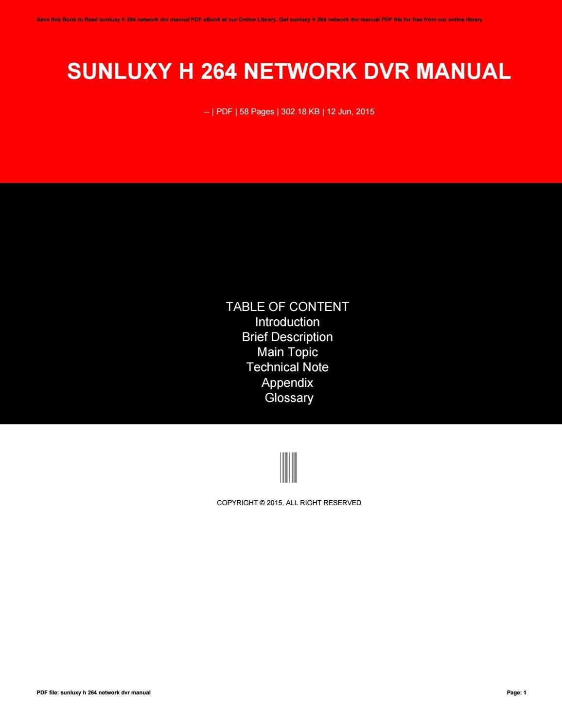 h 264 network dvr manual pdf