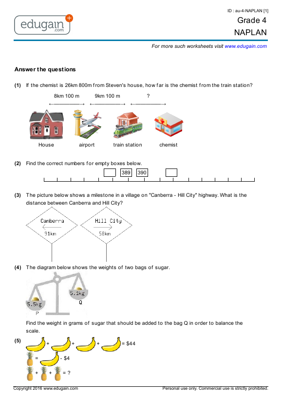 Naplan maths year 9 pdf