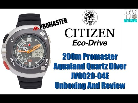 citizen aqualand eco drive 20th anniversary dive watch manual