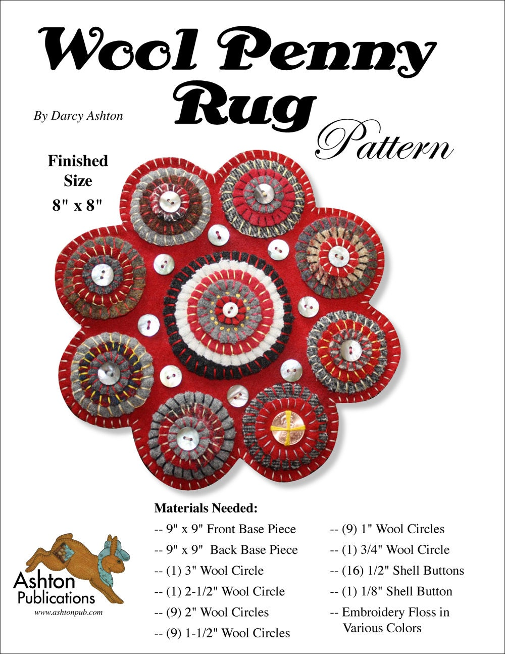 wool penny rug instructions