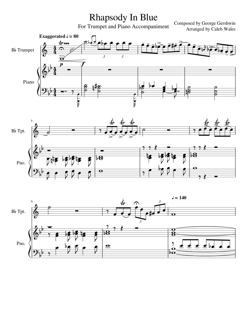 Rhapsody in blue trumpet and piano pdf