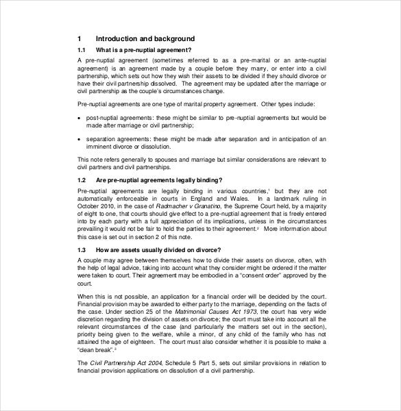 Post nuptial agreement infidelity clause example