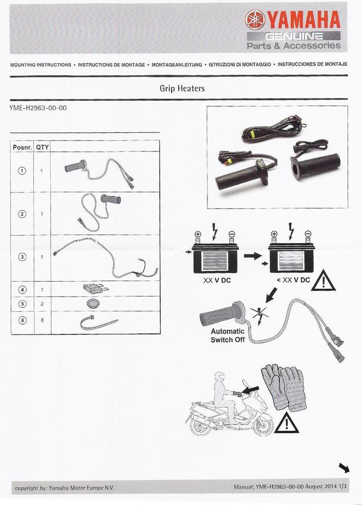 honda heated grips instructions