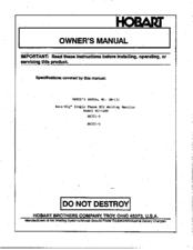 Hobart beta mig 200 manual