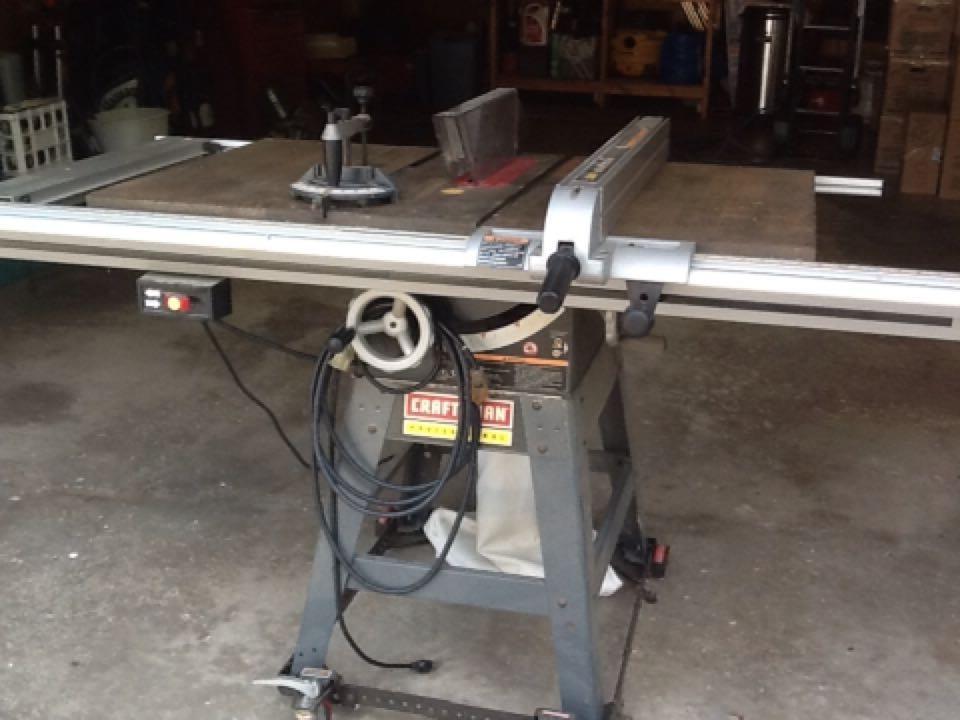 craftsman 10 inch table saw model 315 manual