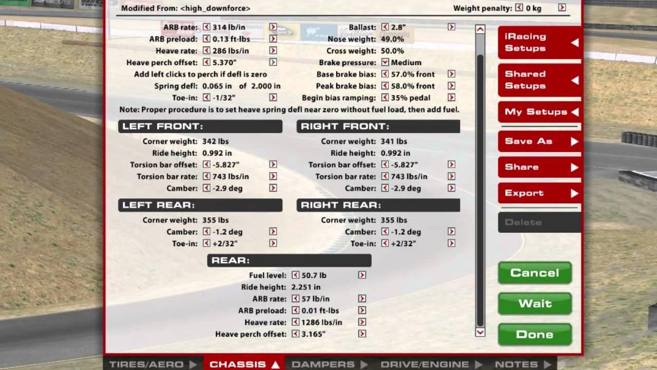 Iracing late model setup guide