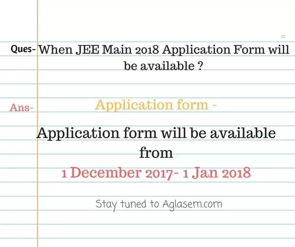 Jee main application form pdf