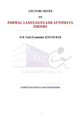 Introduction to formal languages and automata solution manual pdf