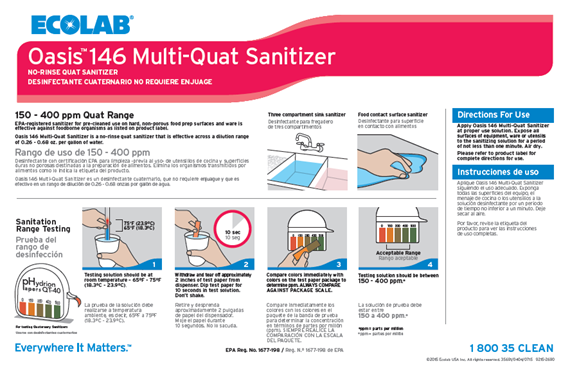 ecolab quat sanitizer instructions