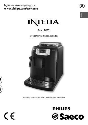 saeco talea giro coffee machine instructions