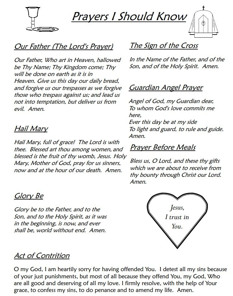 Catholic prayers in english pdf