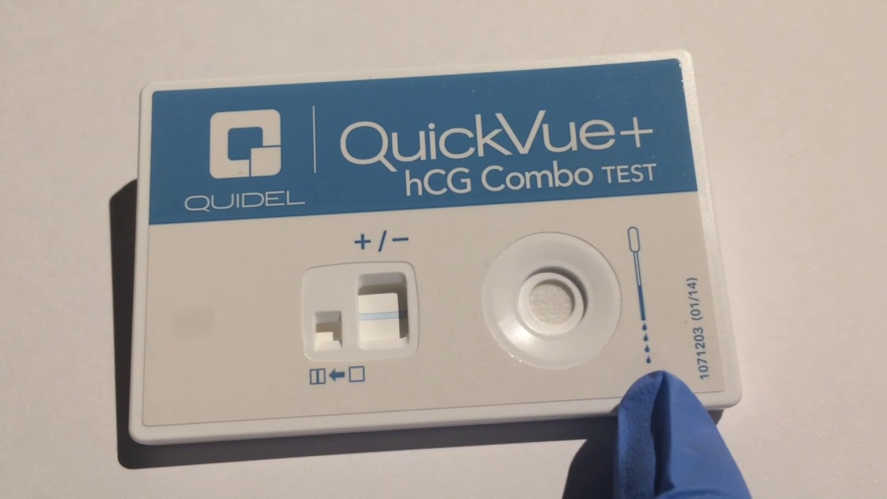 Quickvue pregnancy test how to read results