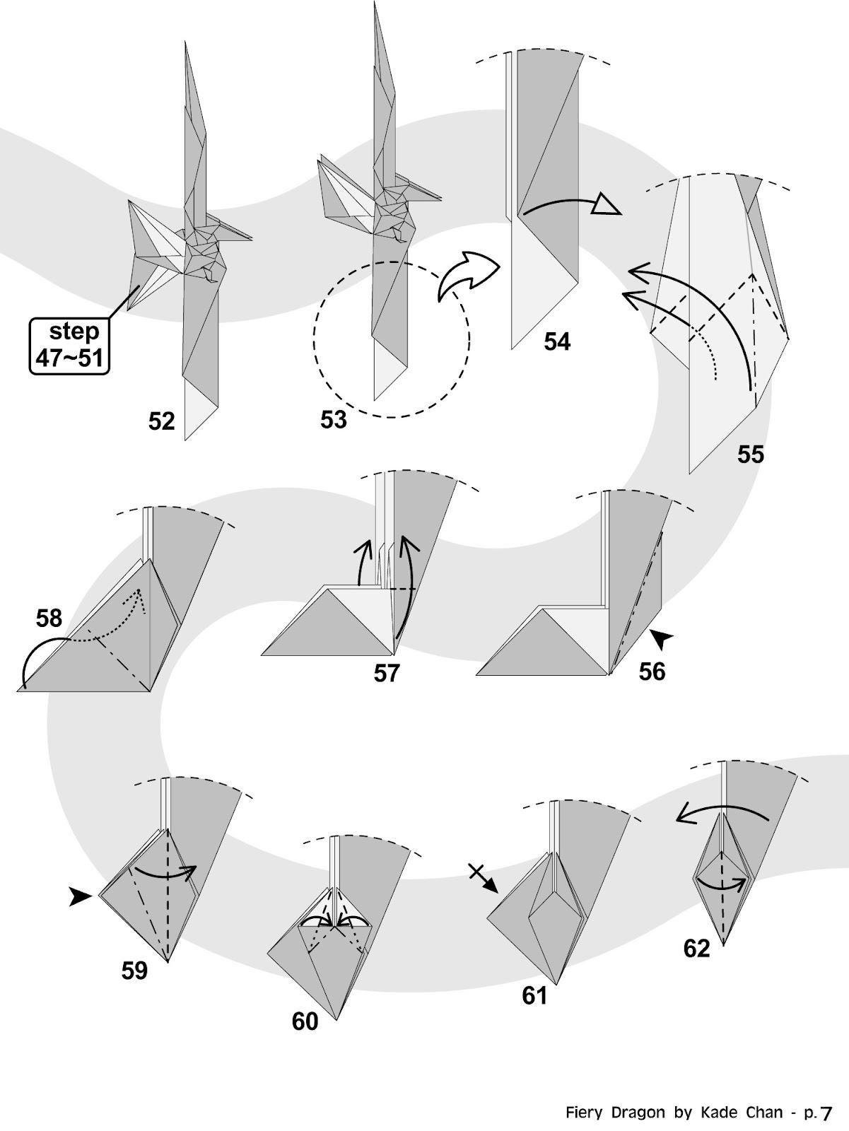 origami divine dragon instructions