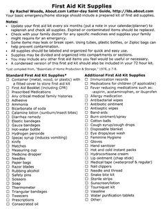 72 hour kit checklist pdf