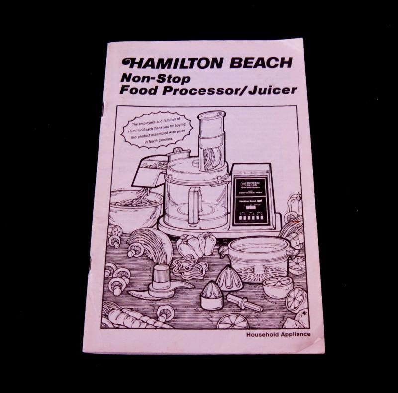 hamilton beach chopper instructions