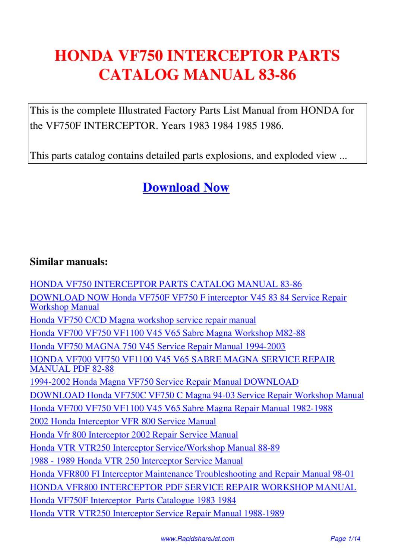 1985 honda magna 700 manual