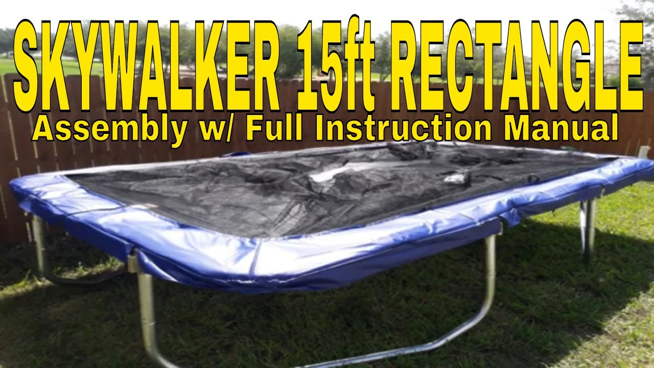 skywalker trampoline assembly instructions