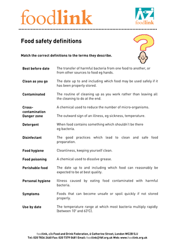 Food safety and hygiene pdf