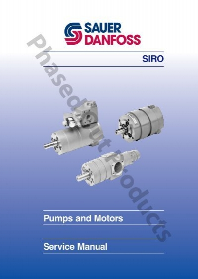 sauer danfoss hydraulic motor service manual