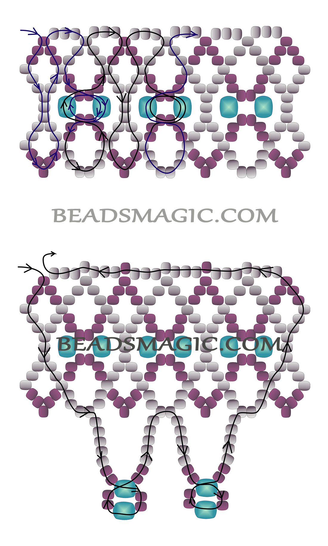 free beading patterns and instructions
