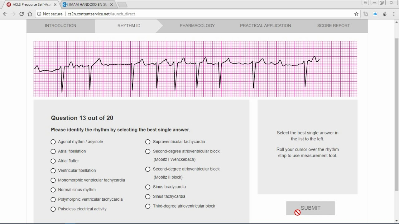 Acls test answers 2016 pdf