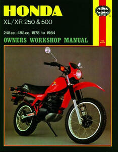 Honda xl 250 workshop manual