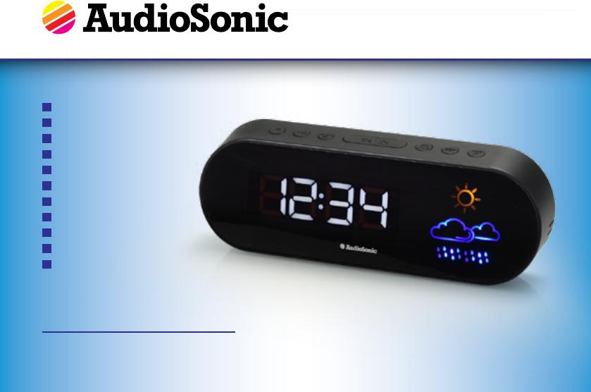 audiosonic clock radio caa-09168 manual