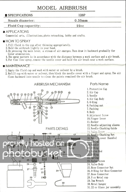 bake air airbrush assembly instructions