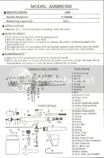 bake air airbrush assembly instructions