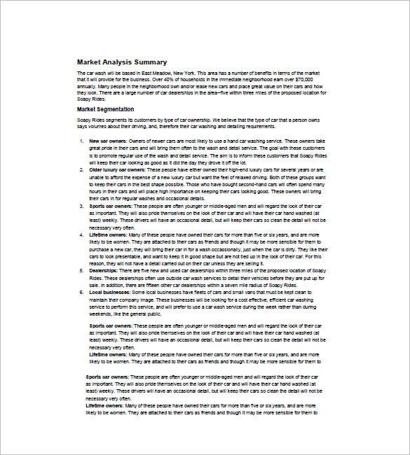 Hand car wash business plan pdf