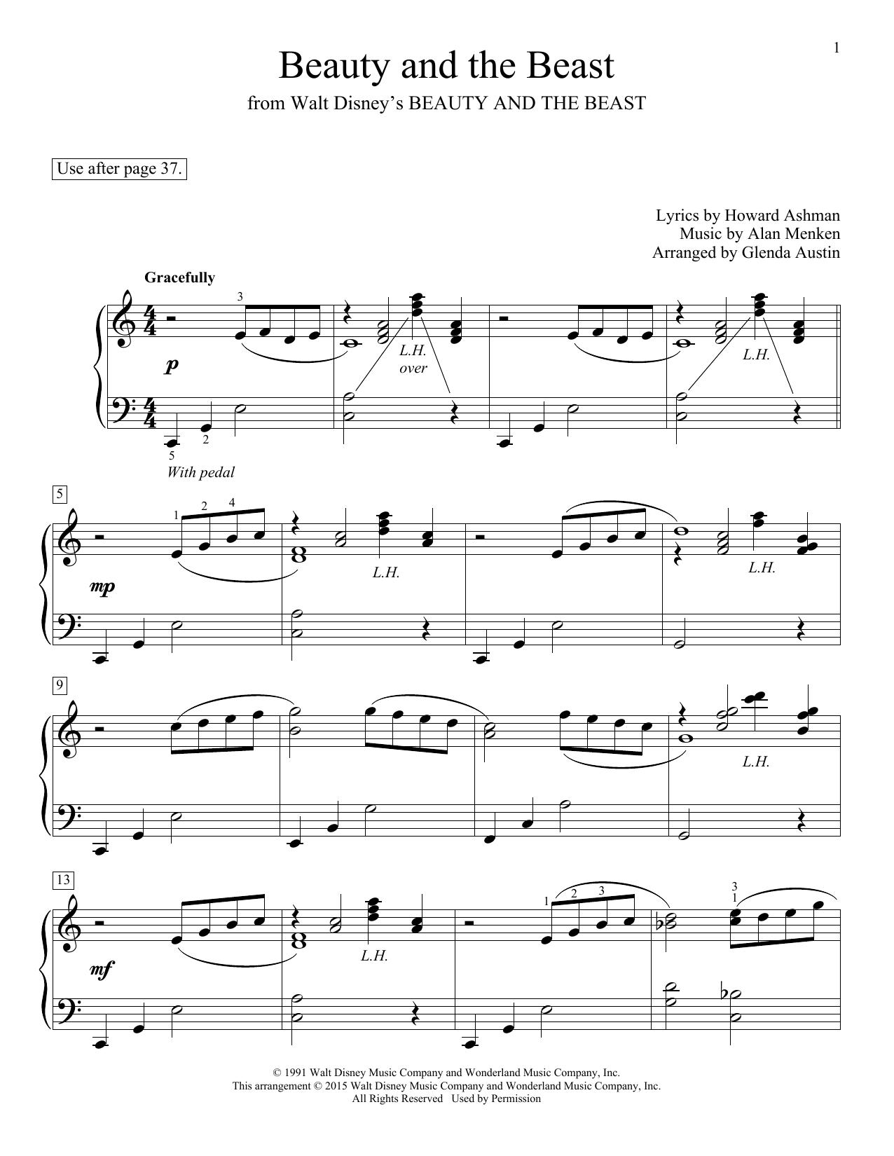 Beauty and the beast sheet music pdf free