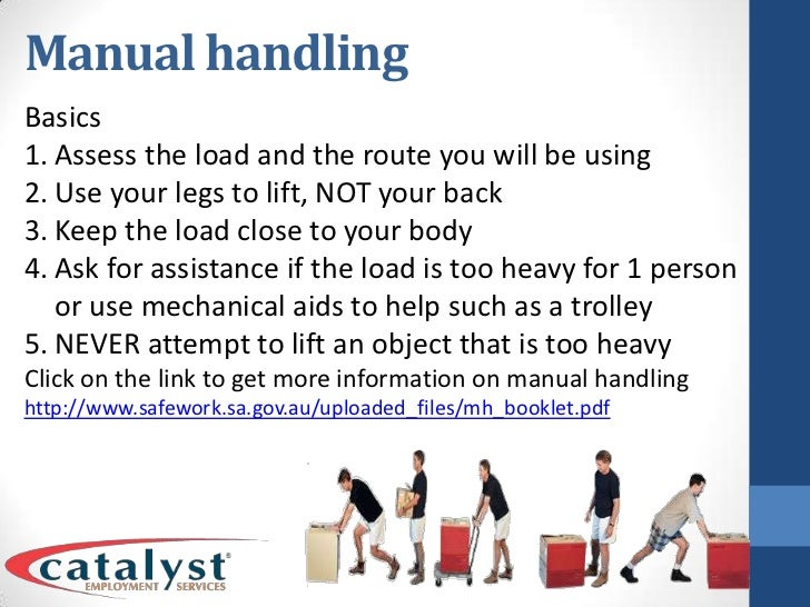 correct manual handling procedures in childcare