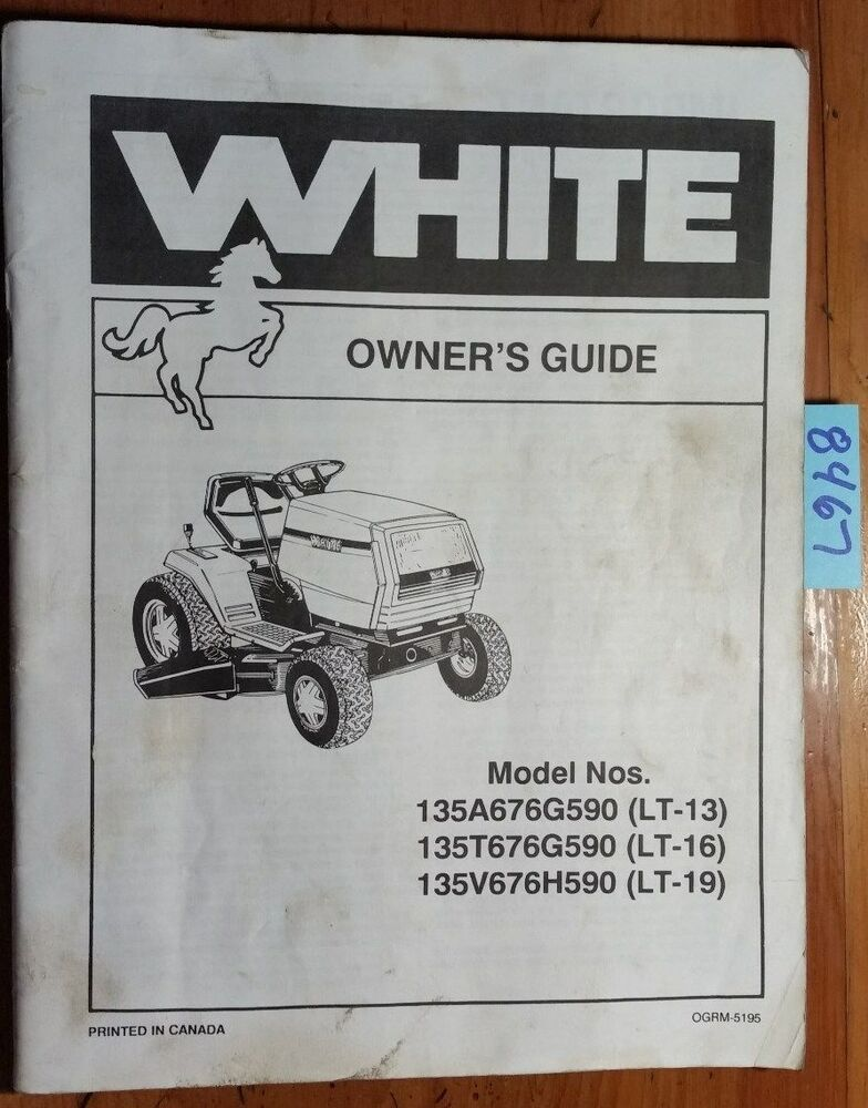 White outdoor lawn tractor manual
