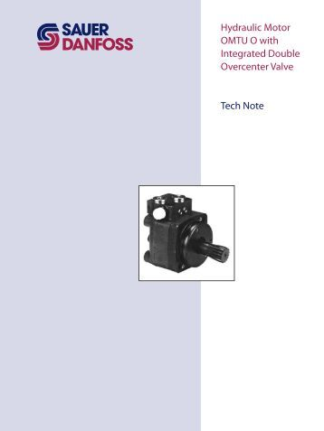 sauer danfoss hydraulic motor service manual