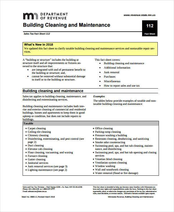 Free commercial cleaning contract pdf
