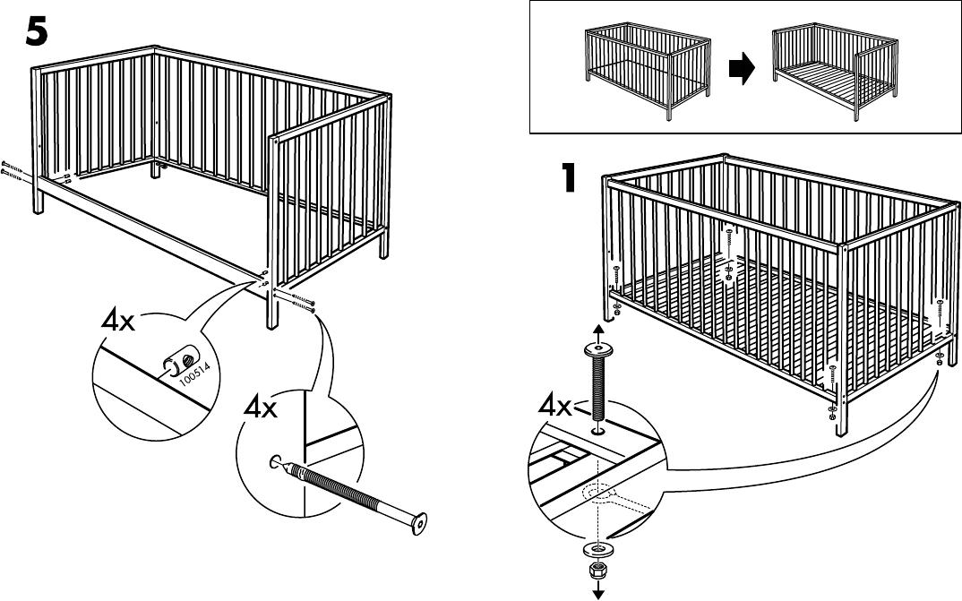 ikea crib assembly instructions 14036