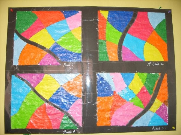Manualidades con papel lustre