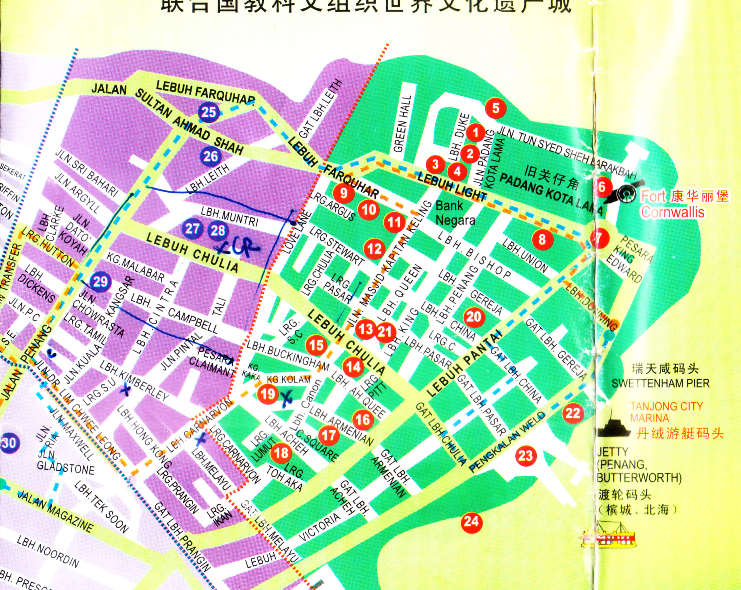 Map of georgetown penang pdf