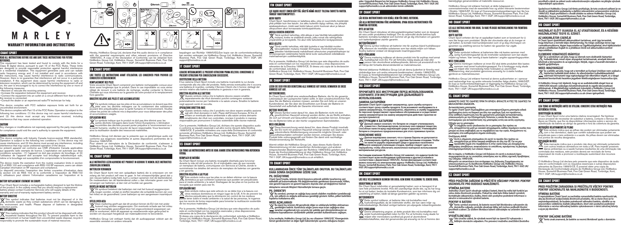marley chant sport instructions