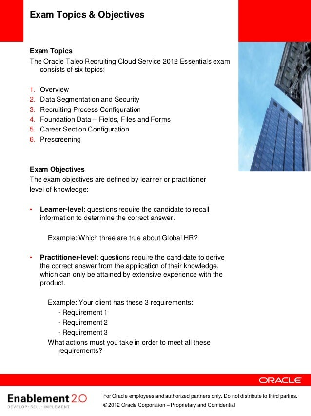 Oracle taleo recruiting user guide