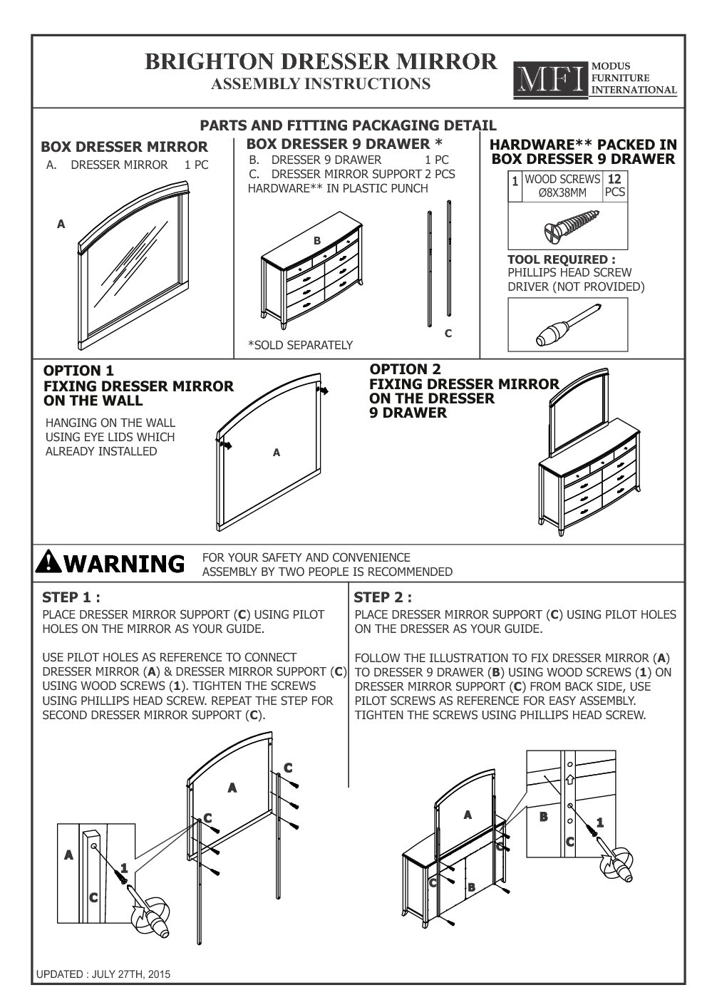 Oxford loft bed assembly instructions