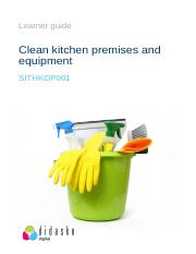 Pdf sithkop001 clean kitchen premises and equipment