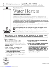 rheem guardian water heater manual
