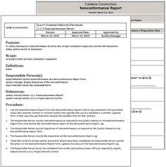 standard operating procedure manual pdf