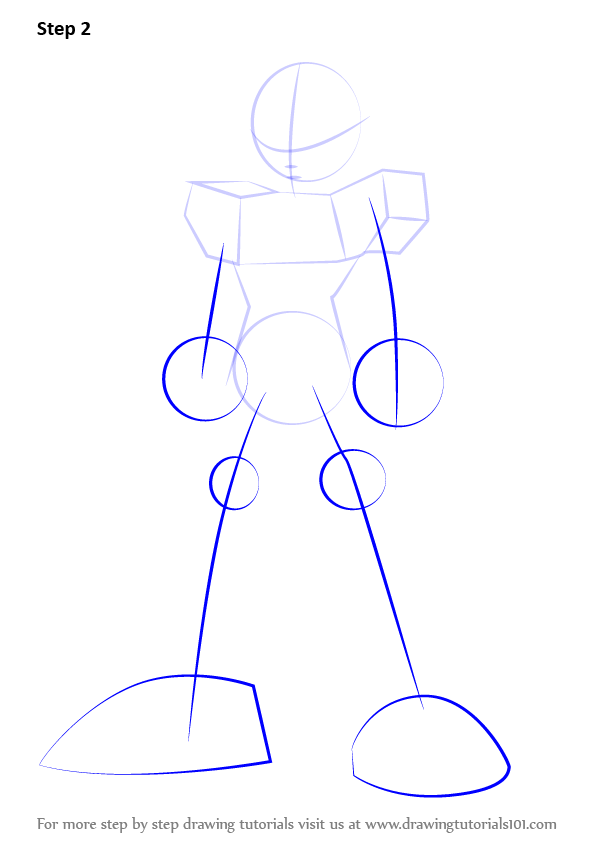 Step by step how to draw megaman