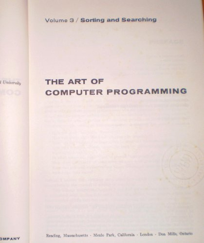 The art of computer programming volume 1 pdf